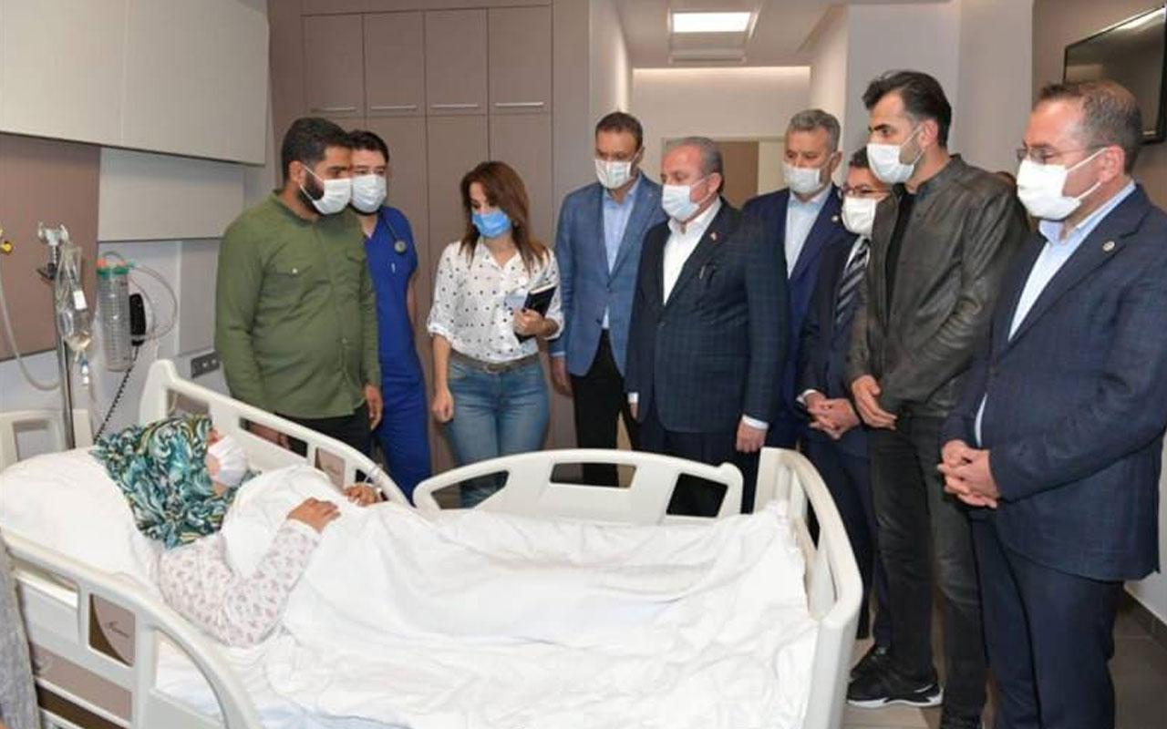 Meclis Başkanı Şentop enkaz altından çıkarılan Buse'yi ziyaret etti