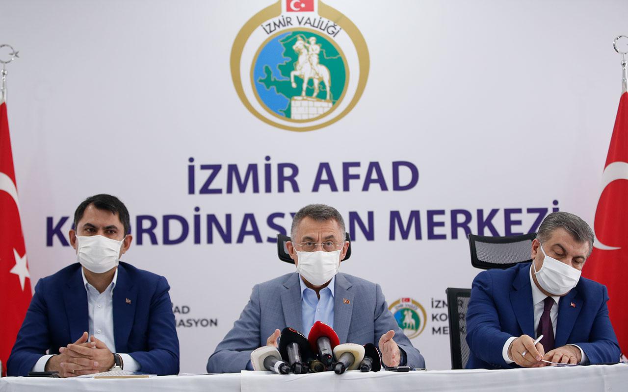 İzmir depreminin son bilançosu! Cumhurbaşkanı Yardımcısı Fuat Oktay açıkladı