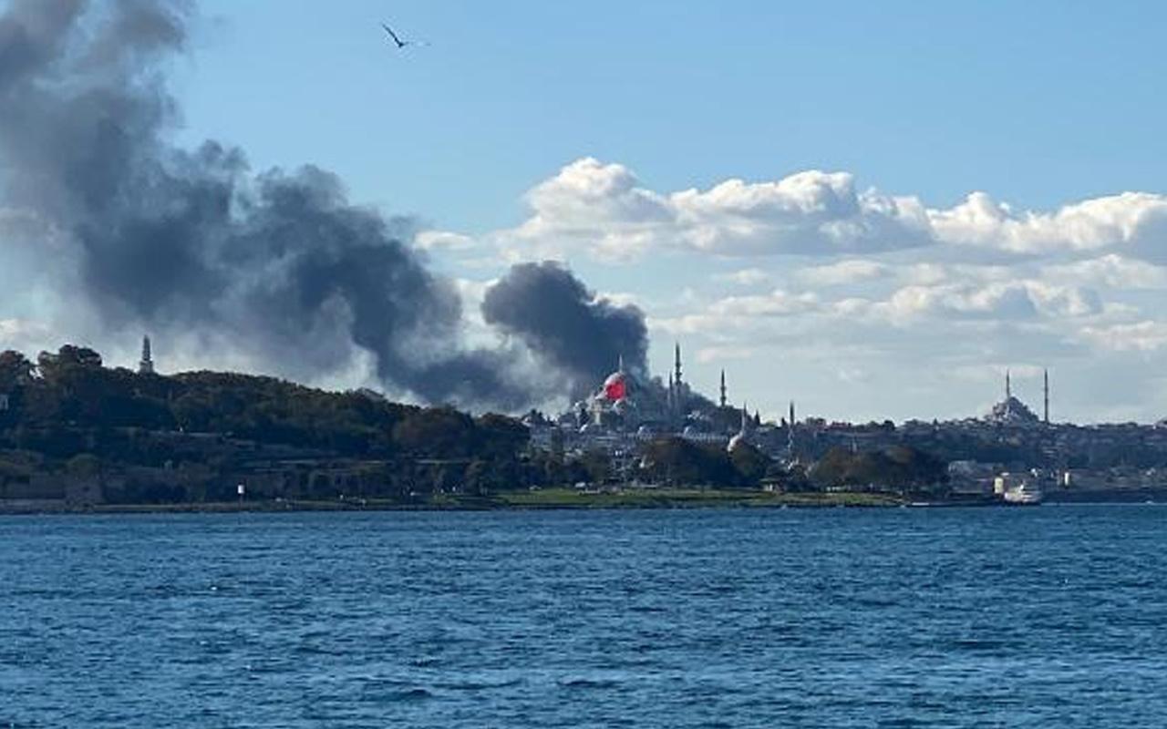 İstanbul'da Çapa Tıp Fakültesi'nde korkutan yangın! Dumanlar gökyüzü sardı