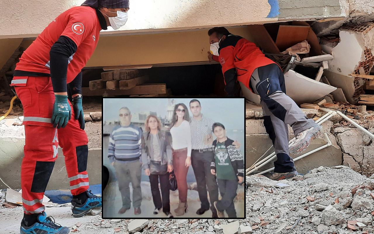 İzmir'de enkazdan aile dramı çıktı torununun elini 14 saat bırakmadı!