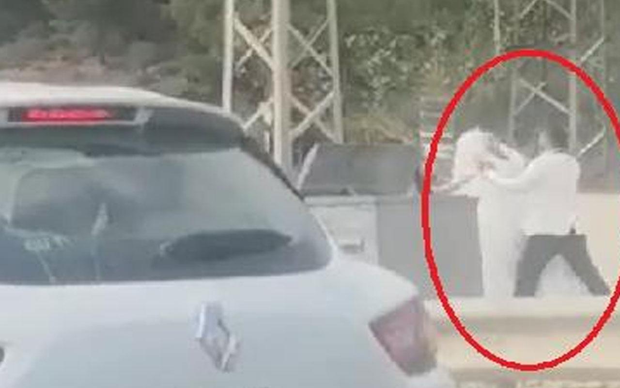 Hatay'da şoke eden olay! Damat yol kenarında gelini dövdü