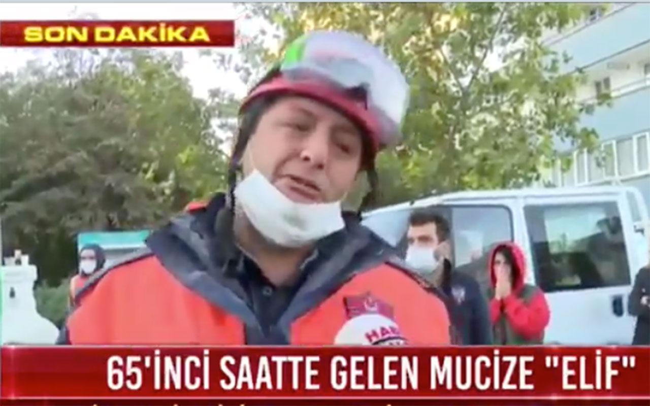İzmir'de minik Elif'i 65 saat sonra kurtaran itfaiyeci gözyaşlarına boğuldu! Elif bizim mucizemiz