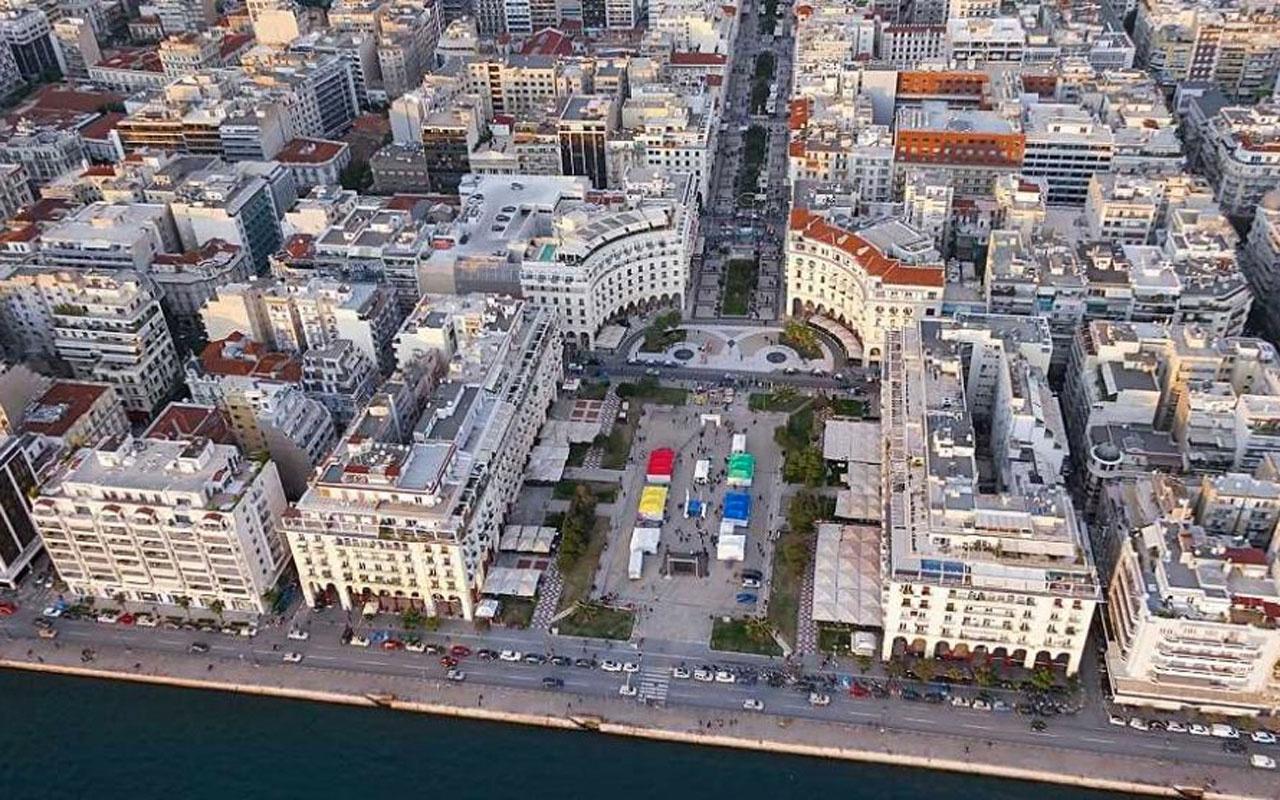 Yunanistan'ın Selanik ve Serez kentlerinde Kovid-19 nedeniyle 14 günlük karantina
