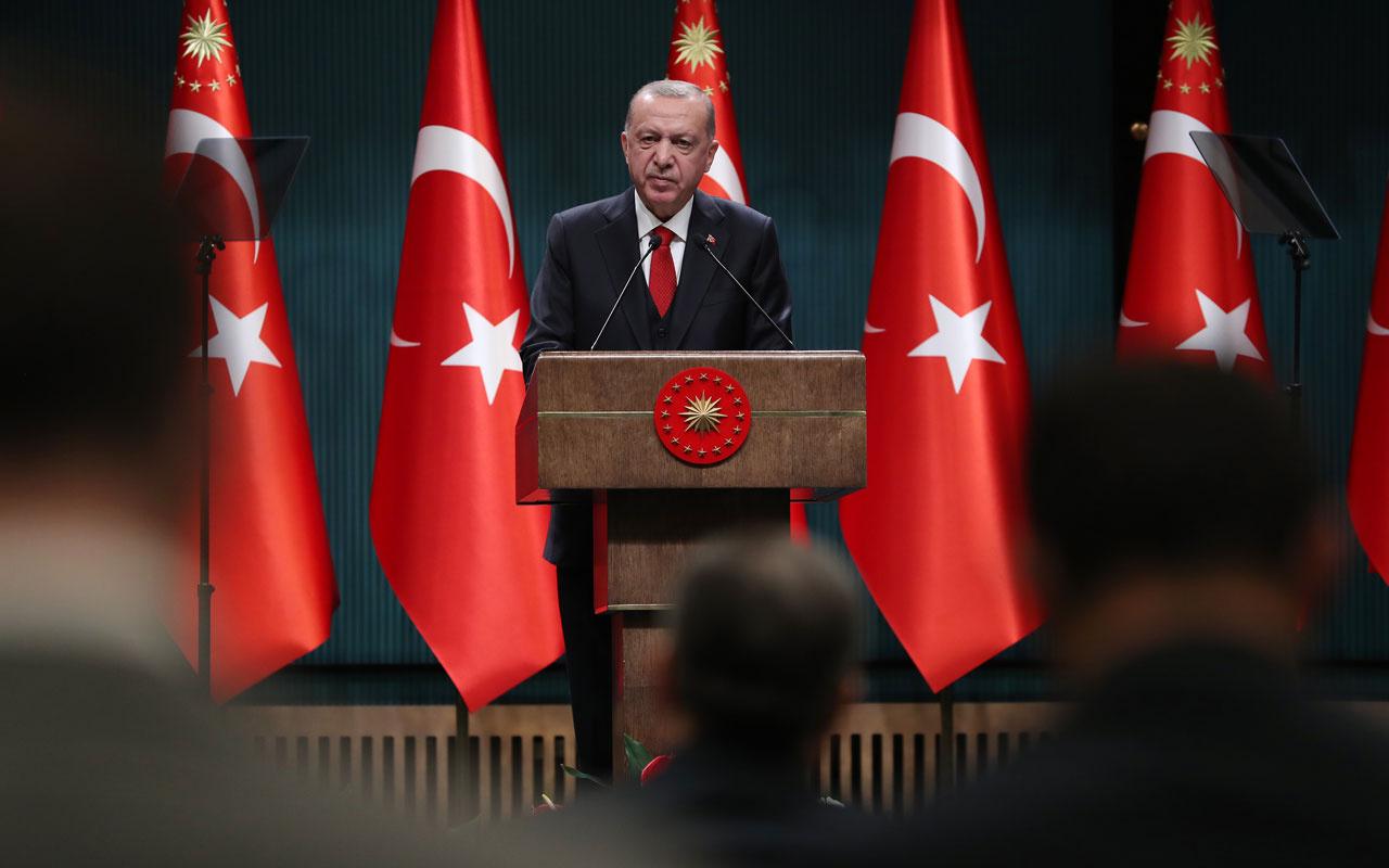 Saat 22.00'da kapanacak olan iş yerlerini Cumhurbaşkanı Erdoğan açıkladı