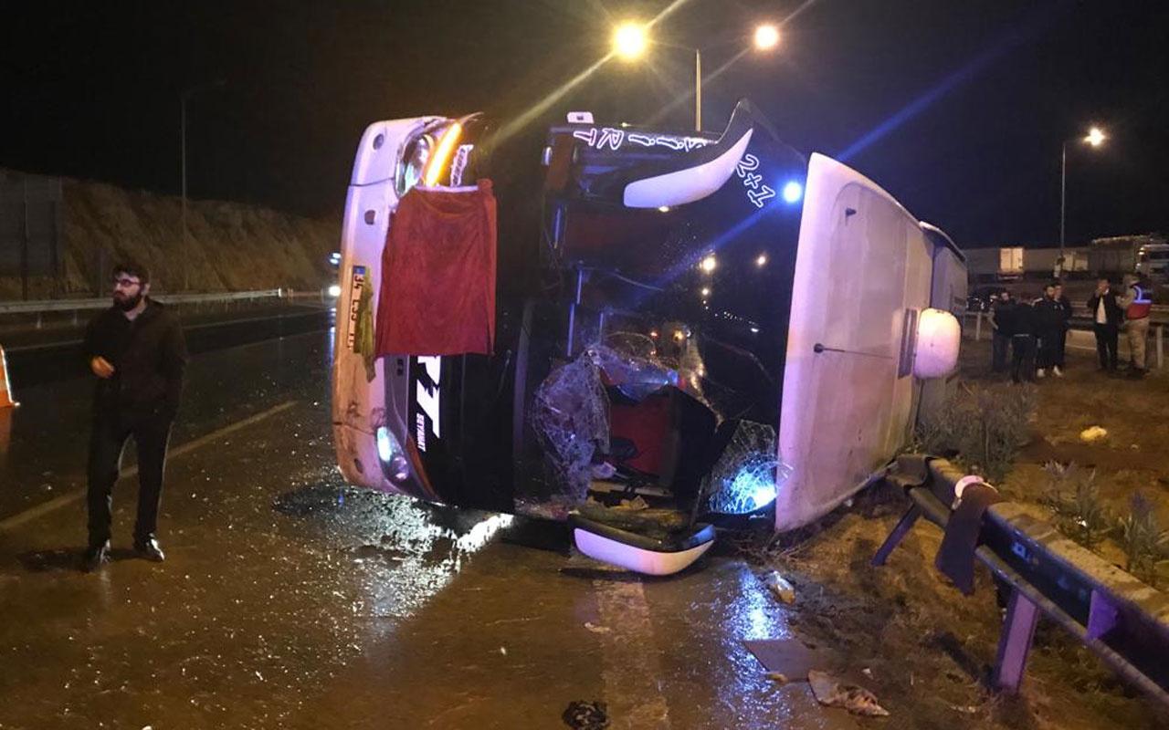 Gaziantep'te yolcu otobüsü devrildi: 12 yaralı