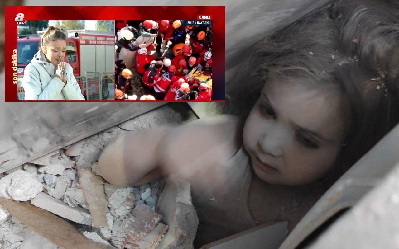 Ayda bebek enkazdan sağ çıkarıldı A Haber spikeri Cansın Helvacı gözyaşlarına boğuldu