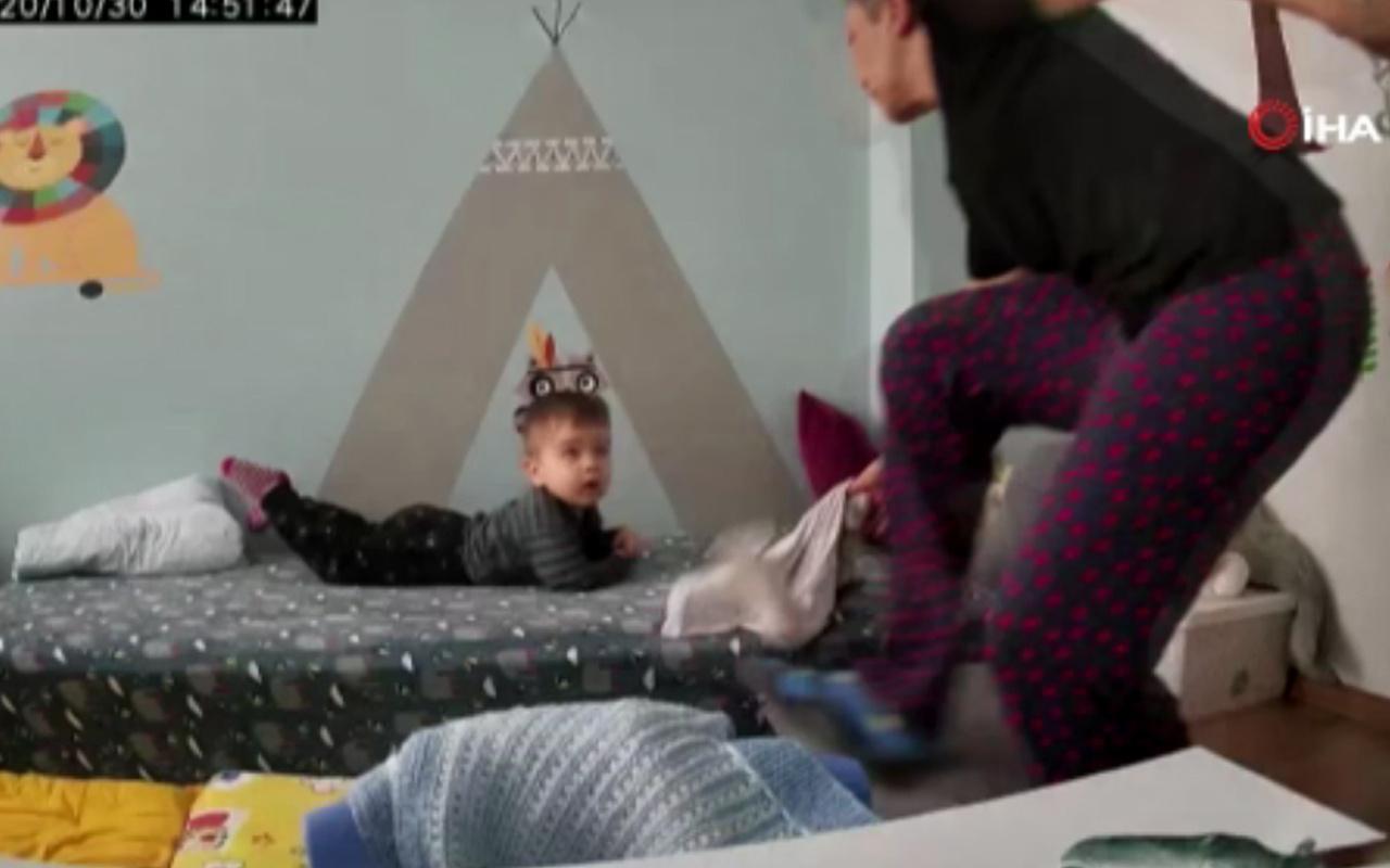 İzmir depremine çocuğu uykuda yakalanınca annesi bakın ne yaptı! İşte o anlar
