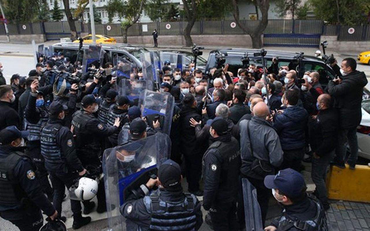 DİSK'ten TBMM önünde 'esnek çalışma düzenlemesi' eylemi arbede çıktı