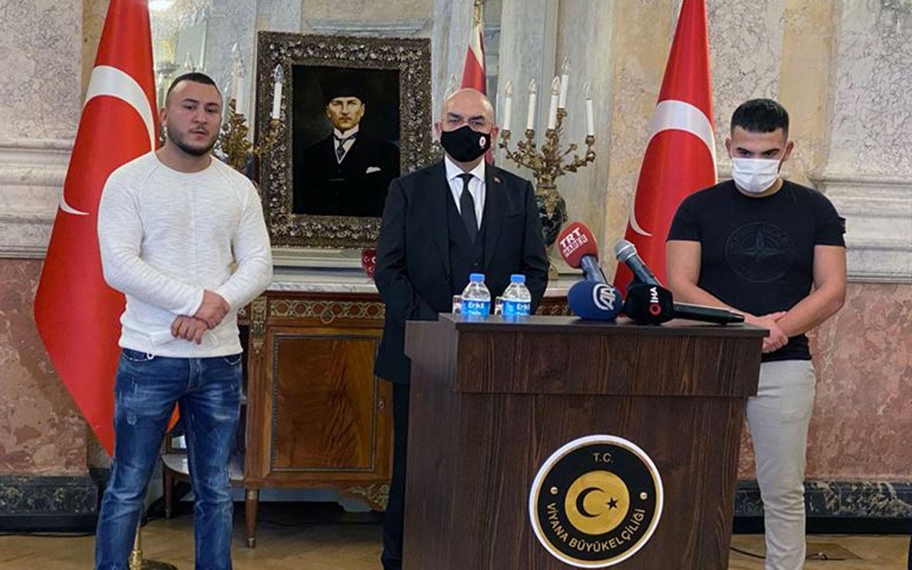 Avusturya Viyana'daki terör saldırısında polise yardım eden Türkleri konuşuyor
