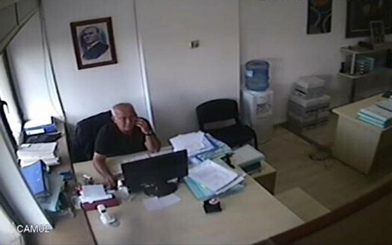 İzmir'de avukatın deprem anındaki soğukkanlılığı kamerada