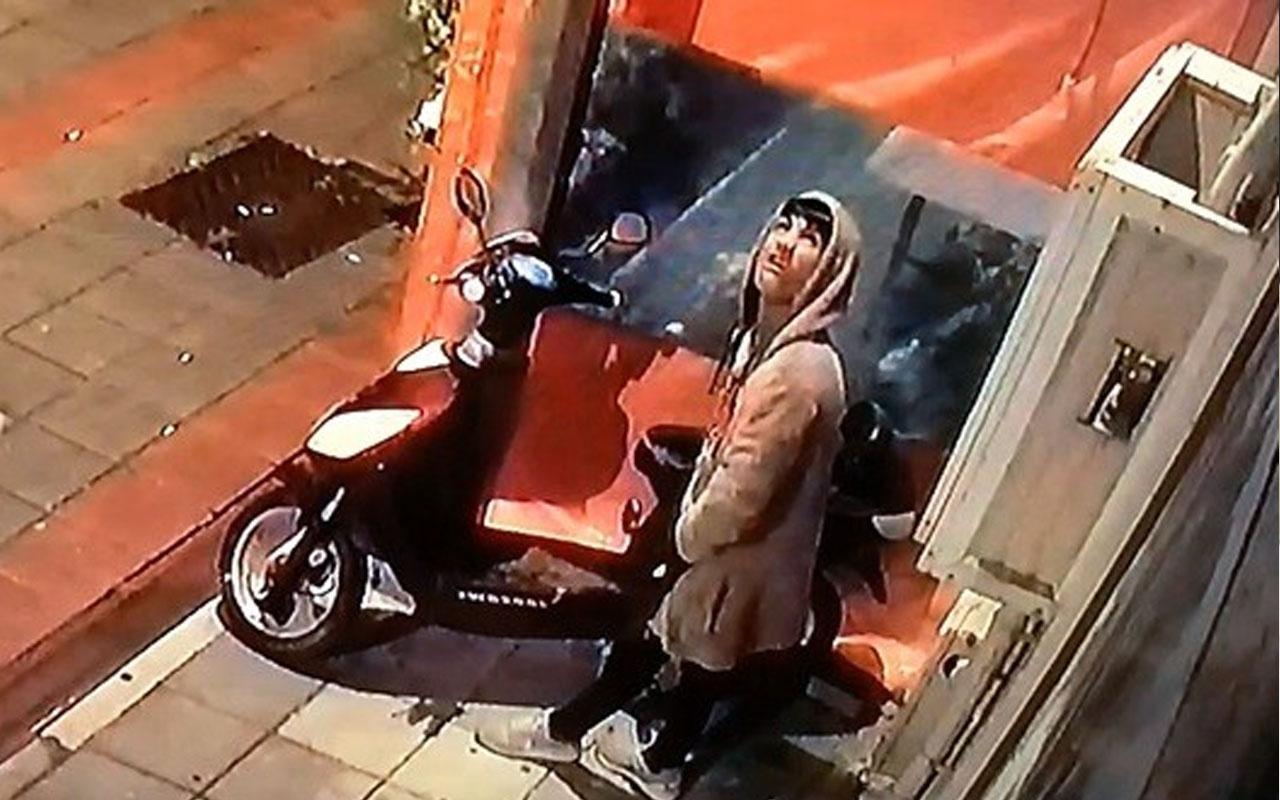 Bursa'da önce etrafı kontrol etti! Genç hırsız motosikleti gece yarısı böyle çaldı