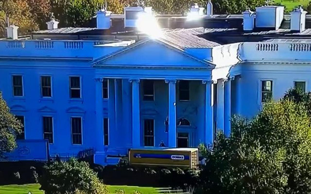 Beyaz Saray'ın önüne kamyon çekildi! 'Melania gitmeye hazır' yorumları