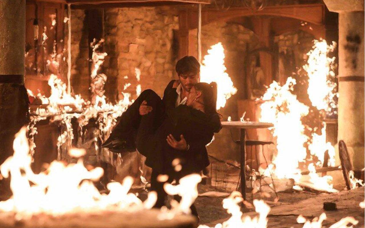 Show TV Alev Alev dizisindeki gerçek yangın sahnesi tam not aldı