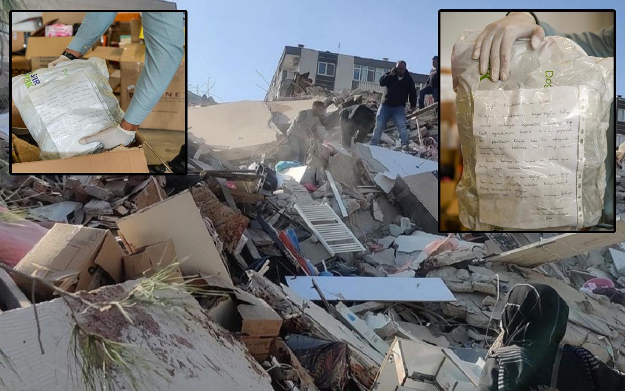 İzmir'de yardım kolilerinden çıkan mektuplar göz yaşartıyor! Görenler duygulandı