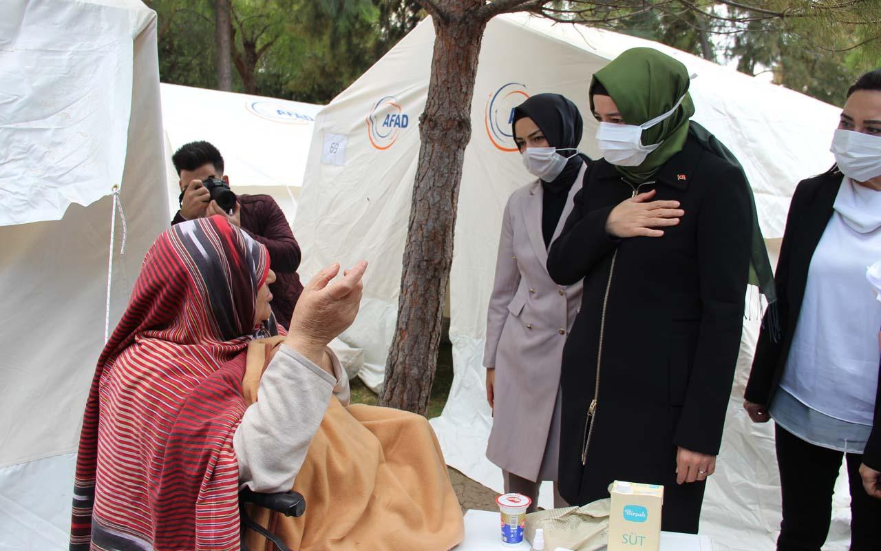 İzmir'de deprem çadırında Trabzonlu ninenin diyaloğu izleyenleri gülümsetti