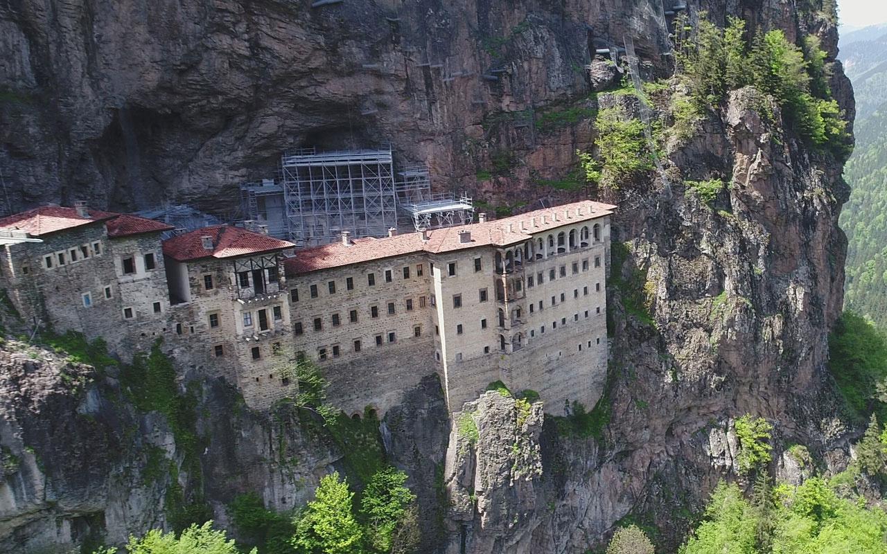 31 Ocak 2021 tarihine kadar ziyaret edilemeyecek! Sümela Manastırı kapatıldı