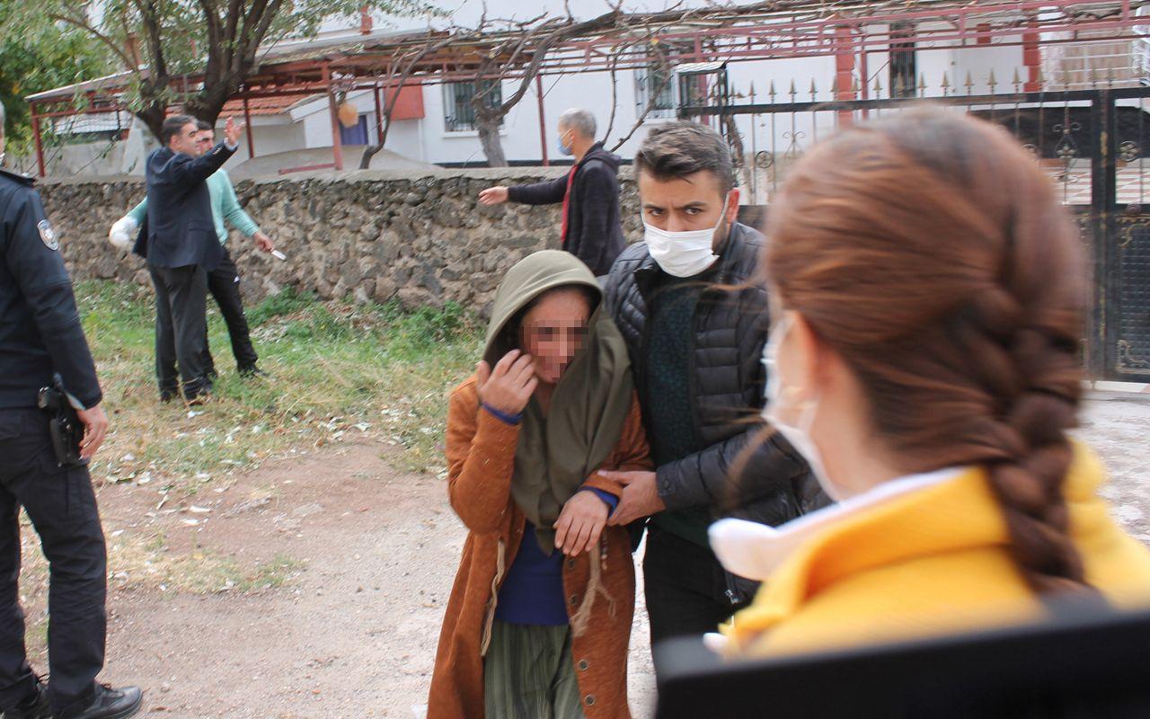Aksaray'da annesini önce dövdü sonra boğazına bıçak dayayıp rehin aldı
