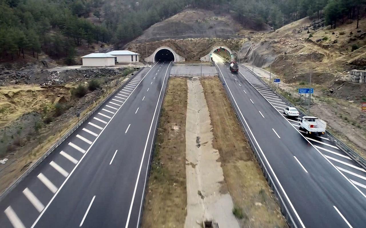 4.6 milyar liraya mal olan 11 tünelli yolda ilk araç sürüşünü Erdoğan yapacak