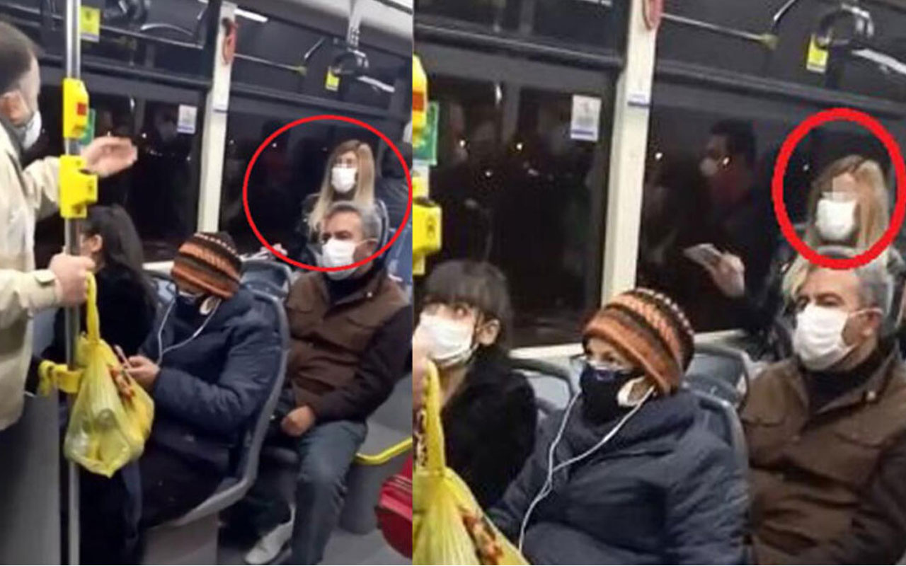 Otobüste Covid-19 testinin pozitif çıktığını söyledi yolcular duyunca...