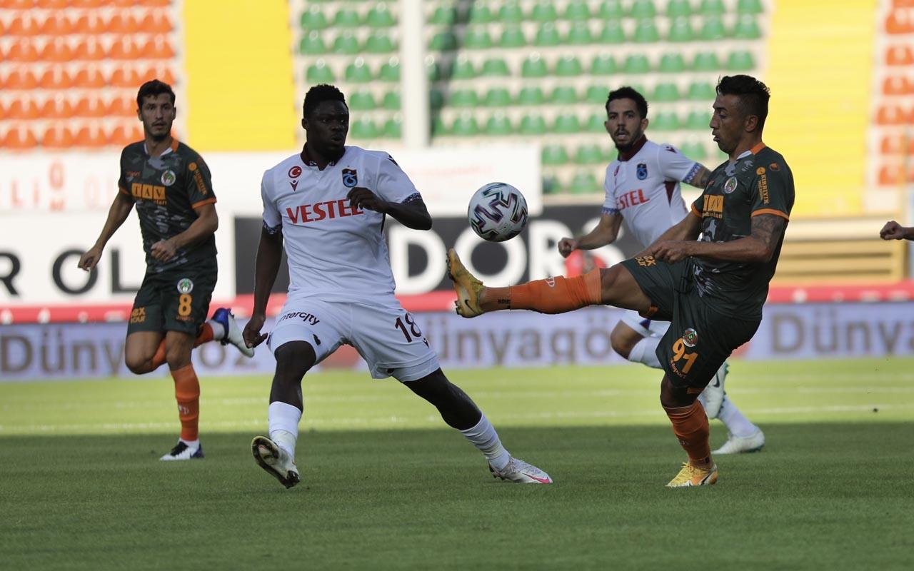 Alanyaspor-Trabzonspor karşılaşmasının maç sonucu: 1-1