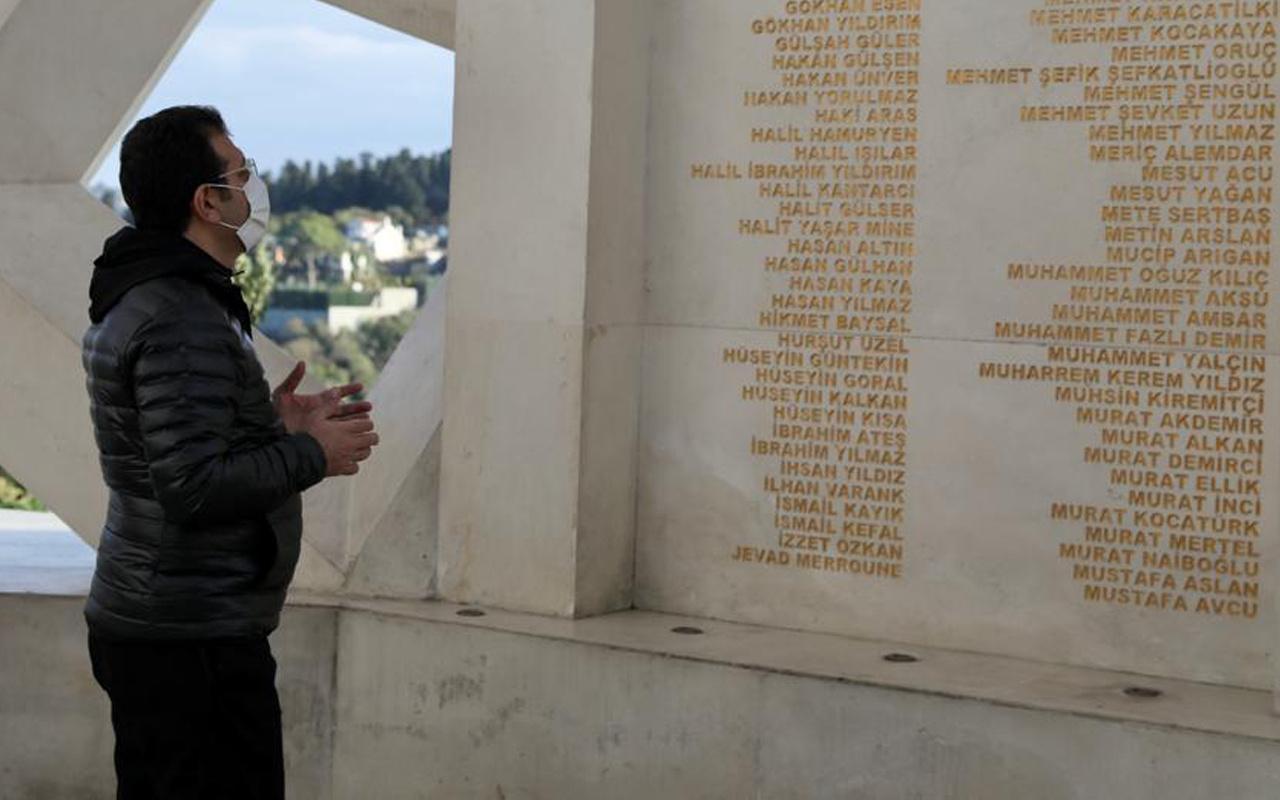 Ekrem İmamoğlu maratona ara verdi! Anıtı ziyaret edip dua etti