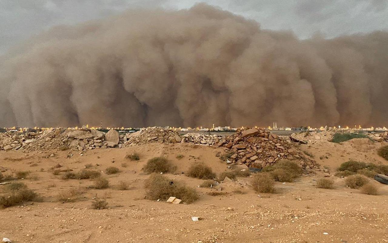 Suudi Arabistan'ı vurdu! Kum fırtınası kabusu böyle geldi