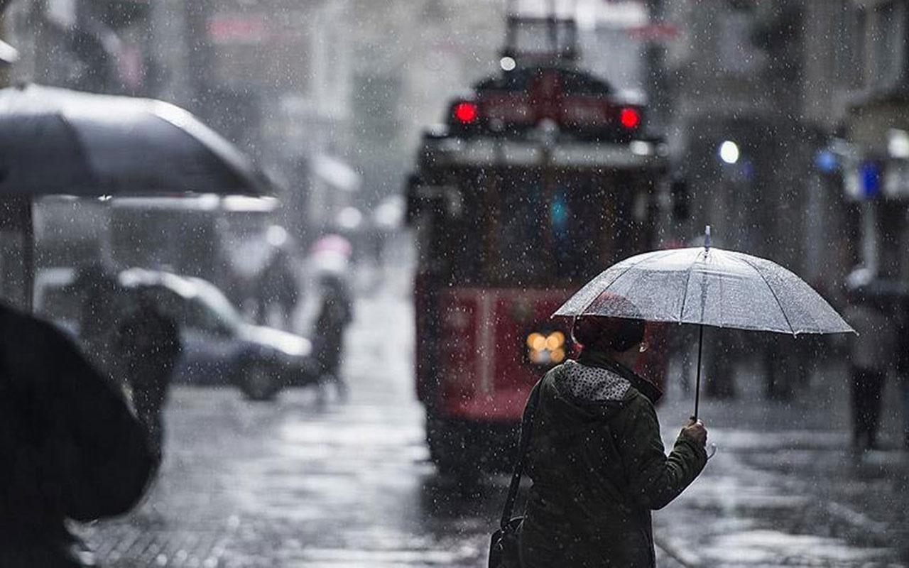 Meteoroloji'den İstanbul için uyarı geldi! Sağanak yağış geliyor