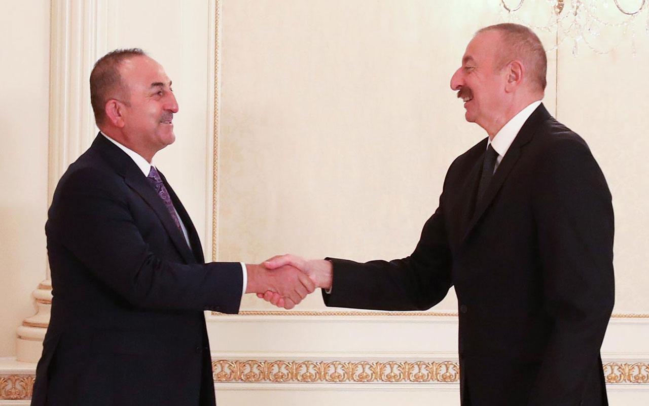 Çavuşoğlu ve Akar'dan, İlham Aliyev'e tebrik ziyareti