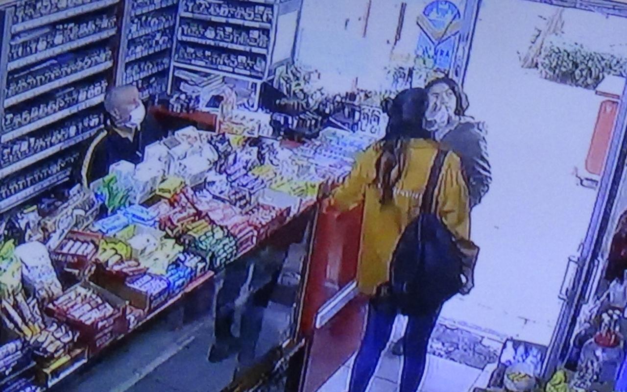 Diyarbakır'da yolda küçük kızın suratına tüküren şahıs markette o anları izledi