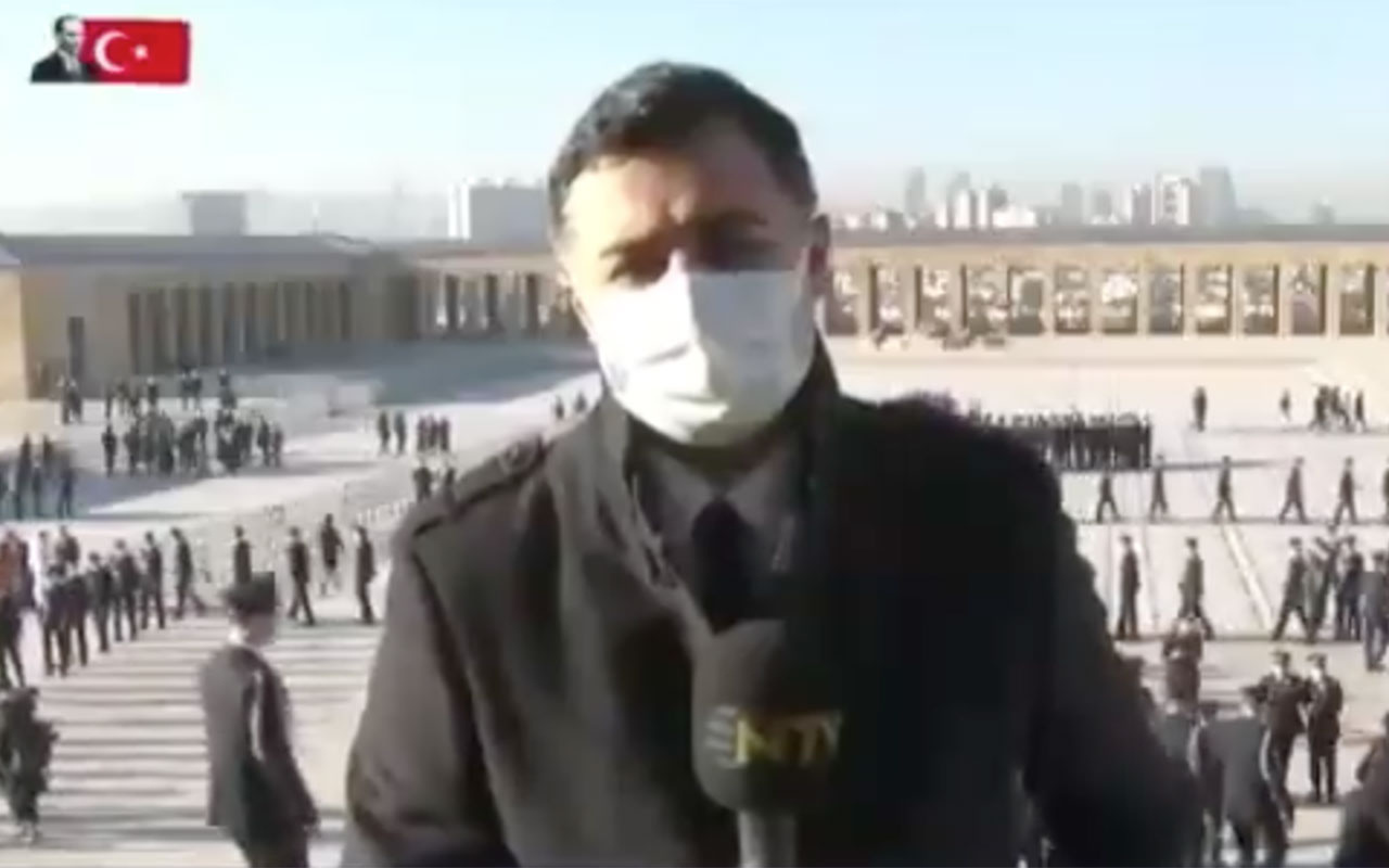 NTV, canlı yayında Anıtkabir'den çıkarıldı! 10 Kasım anmasında garip olay