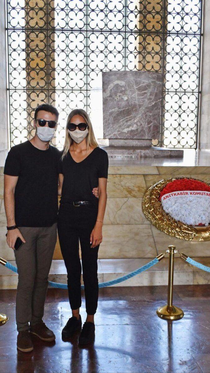 Maria ile Mustafa'nın Brezilyalı güzeli Jessica May Anıtkabir'e gitti: Rüyamda görmüştüm