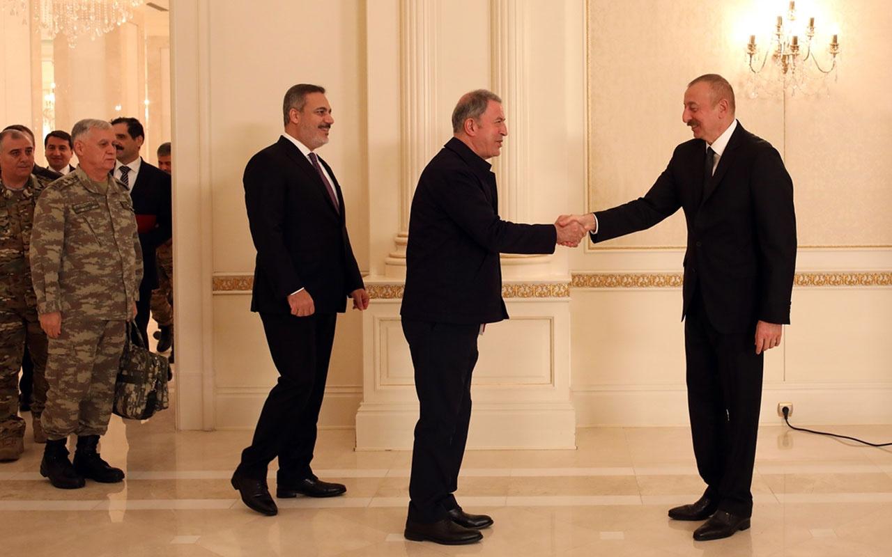 Türk heyetinden İlham Aliyev'e ziyaret