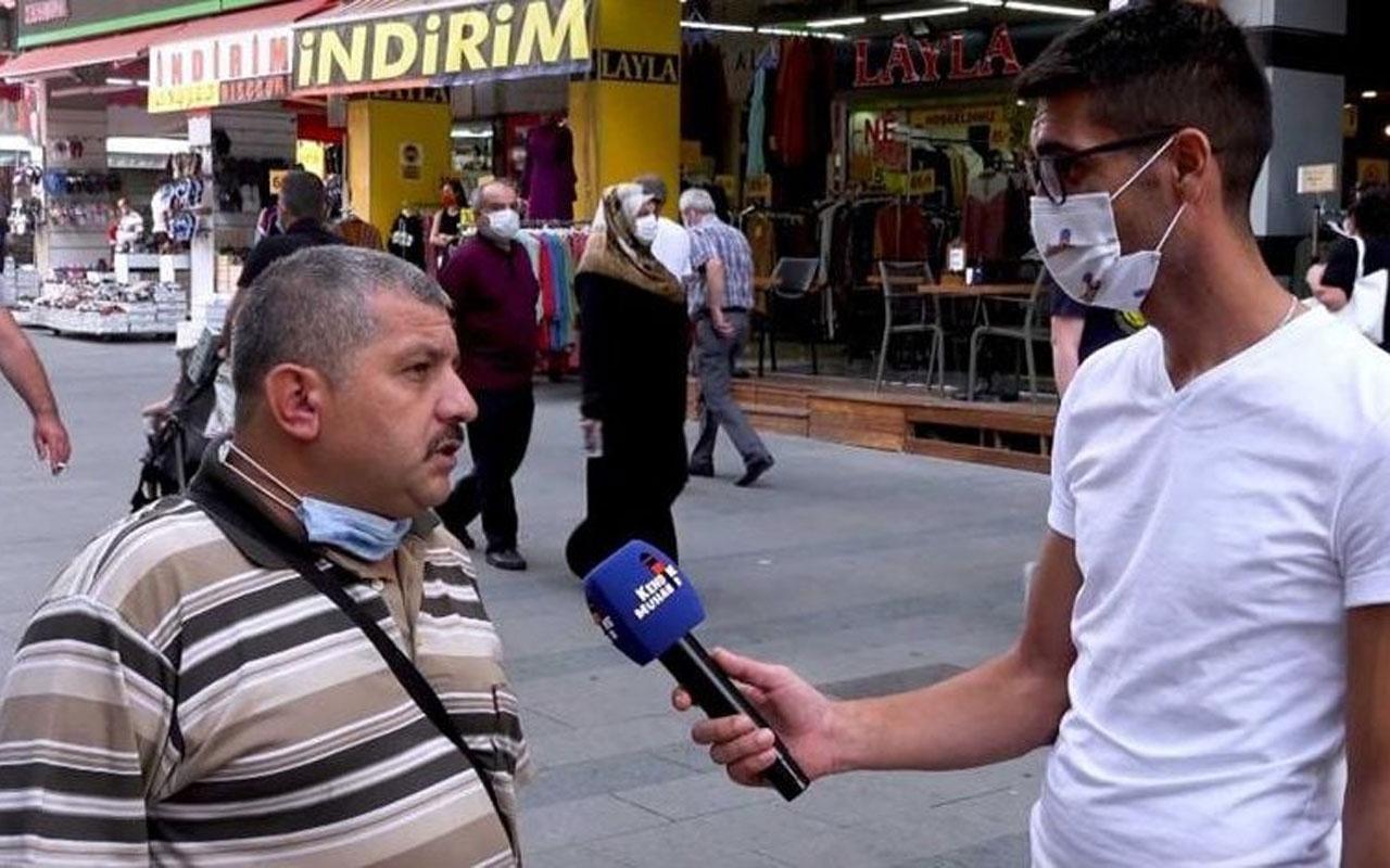 Sokak röportajı başını yaktı! İsmail Demirbaş isimli vatandaş tutuklandı