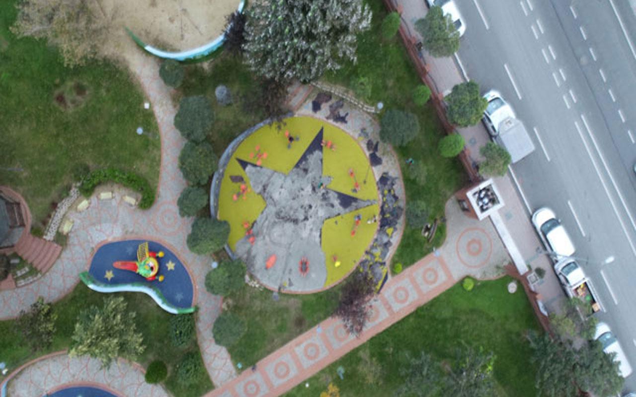 Küçükçekmece'deki parkta 'sembol' tartışması! Terör soruşturması yapılıyor