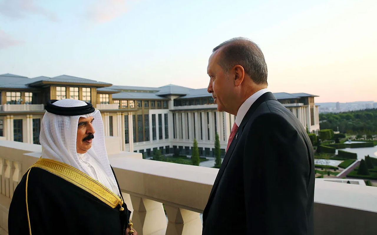 Erdoğan ve Bahreyn Kralı Halife arasında kritik görüşme