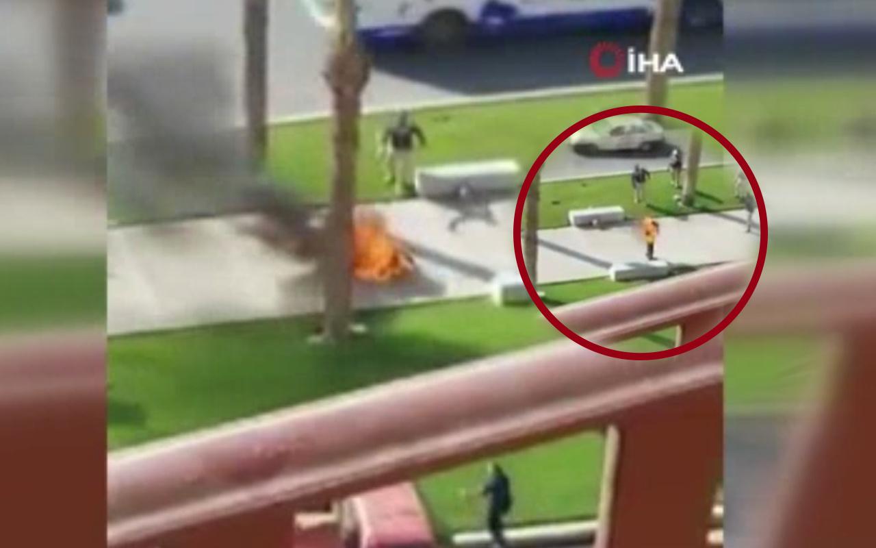 Mısır'da dehşet görüntüler! Yaşam koşullarını proteste ederek kendini ateşledi