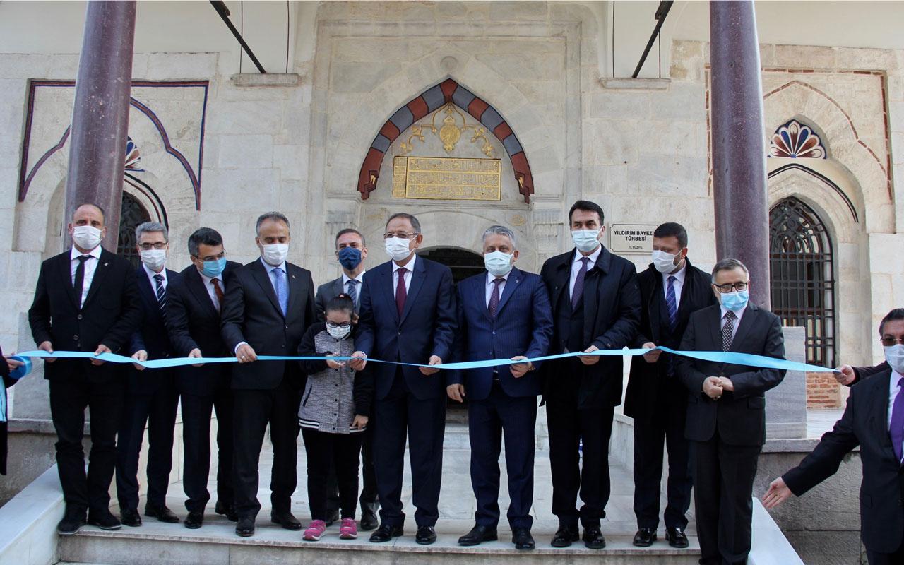 AK Parti'li Özhaseki restorasyonu tamamlanan Yıldırım Bayezid Türbesi'nin açılışını yaptı