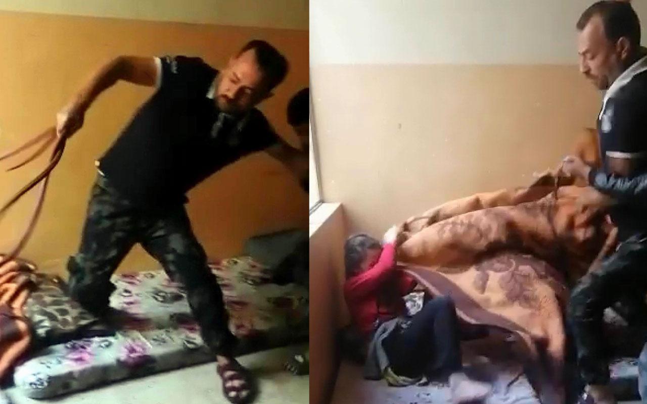Iraklı baba vahşeti! Çocuklarını odaya kilitleyip kemerle işkence ediyor