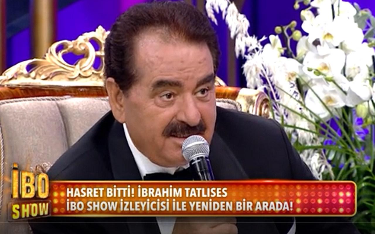 9 yıl sonra ilk! İbrahim Tatlıses Star TV İbo Show'da 'Haydi Söyle' şarkısına ses verdi