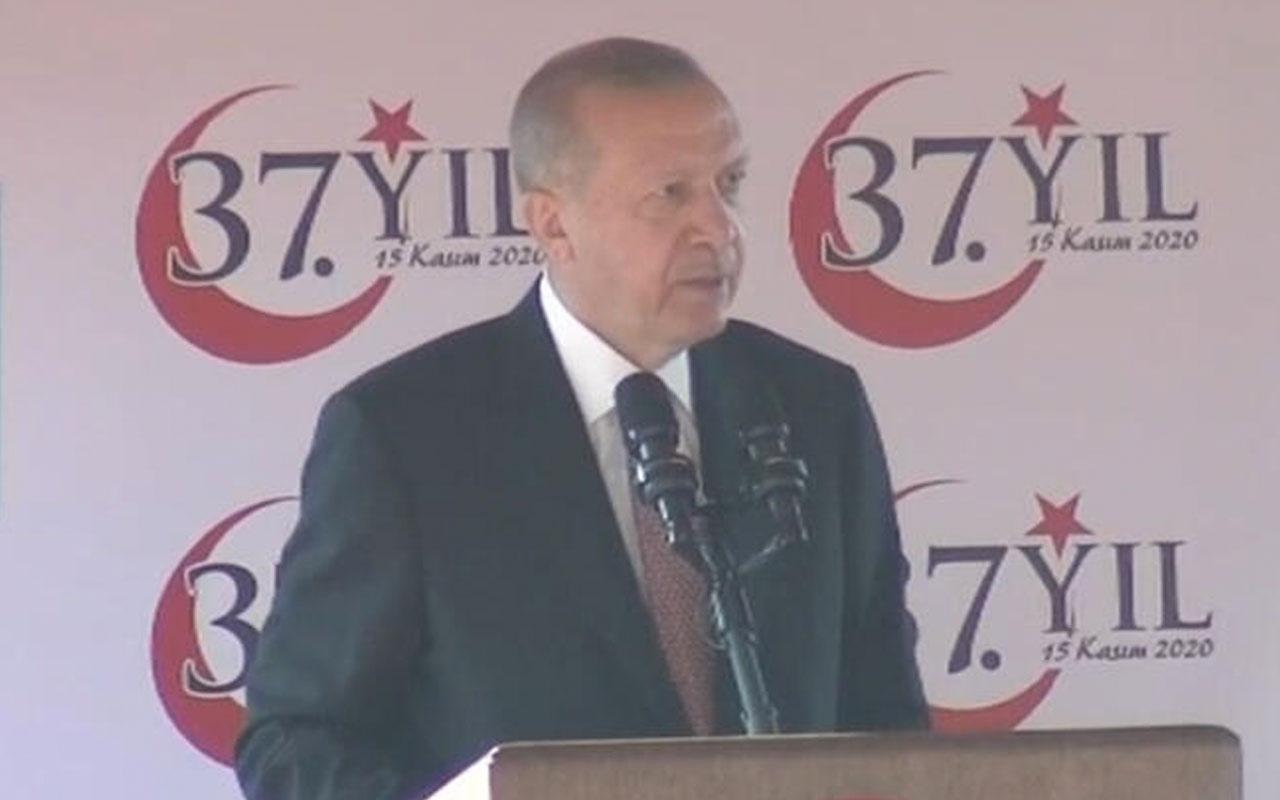 Cumhurbaşkanı Erdoğan'dan KKTC'de flaş mesajlar! Artık tahammülümüz kalmadı