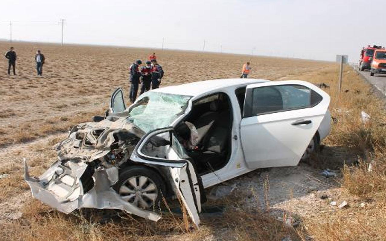 Aksaray'da feci kaza! TIR'a arkadan çaptı
