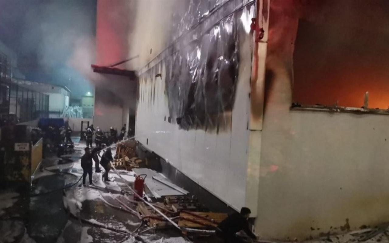 Kocaeli'de silah fabrikasında korkutan yangın!