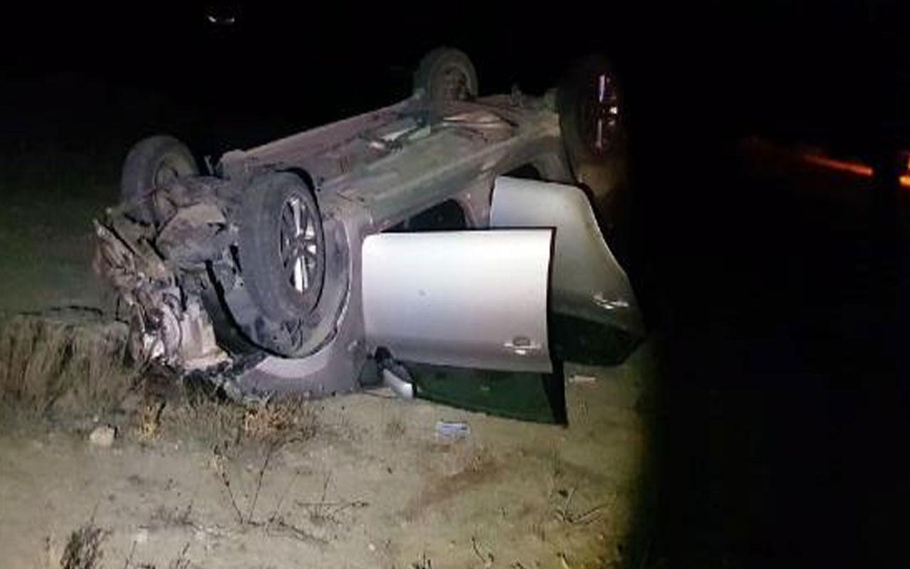 Yozgat'ta feci kaza! Otomobil devrildi, 2 polis hayatını kaybetti