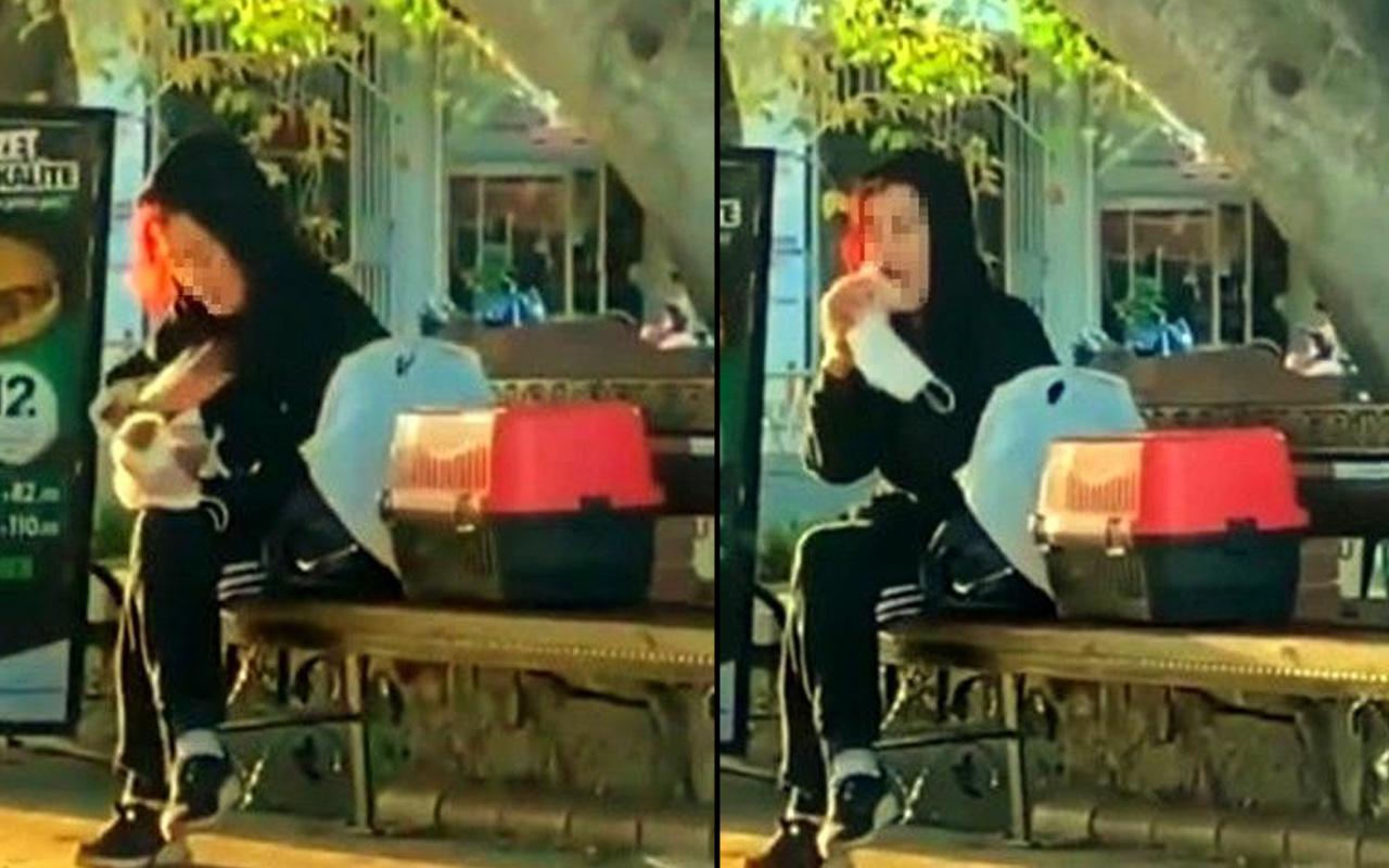 Antalya'da önce tokatladı sonra ısırdı! Bu görüntüler cezasız kalmadı