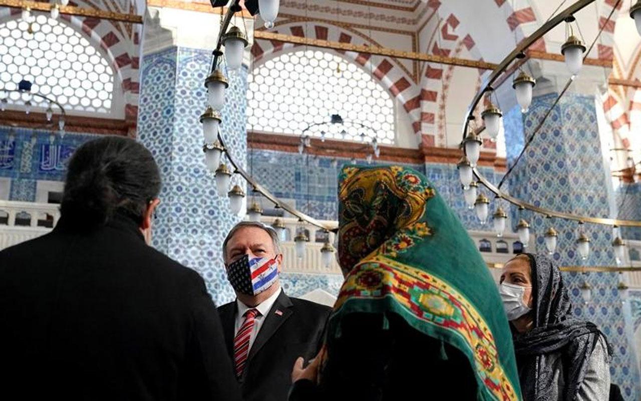ABD Dışişleri Bakanı Mike Pompeo, patrikhaneden sonra Rüstem Paşa Camii'ni gezdi