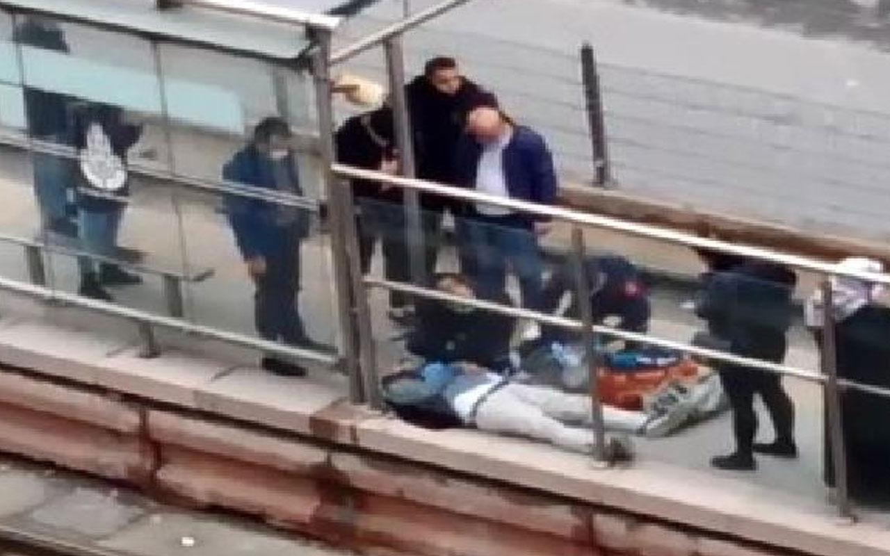 Sultangazi'de korkunç olay!Tramvay beklerken kalp krizi geçiren kişi öldü