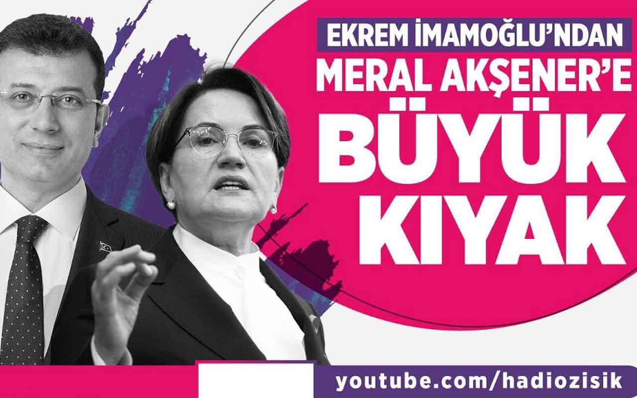Ekrem İmamoğlu'nda Meral Akşener'e müthiş kıyak