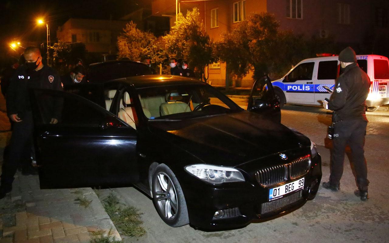 Adana'da otomobille kaçmaya çalışan iki şüpheli yakalandı