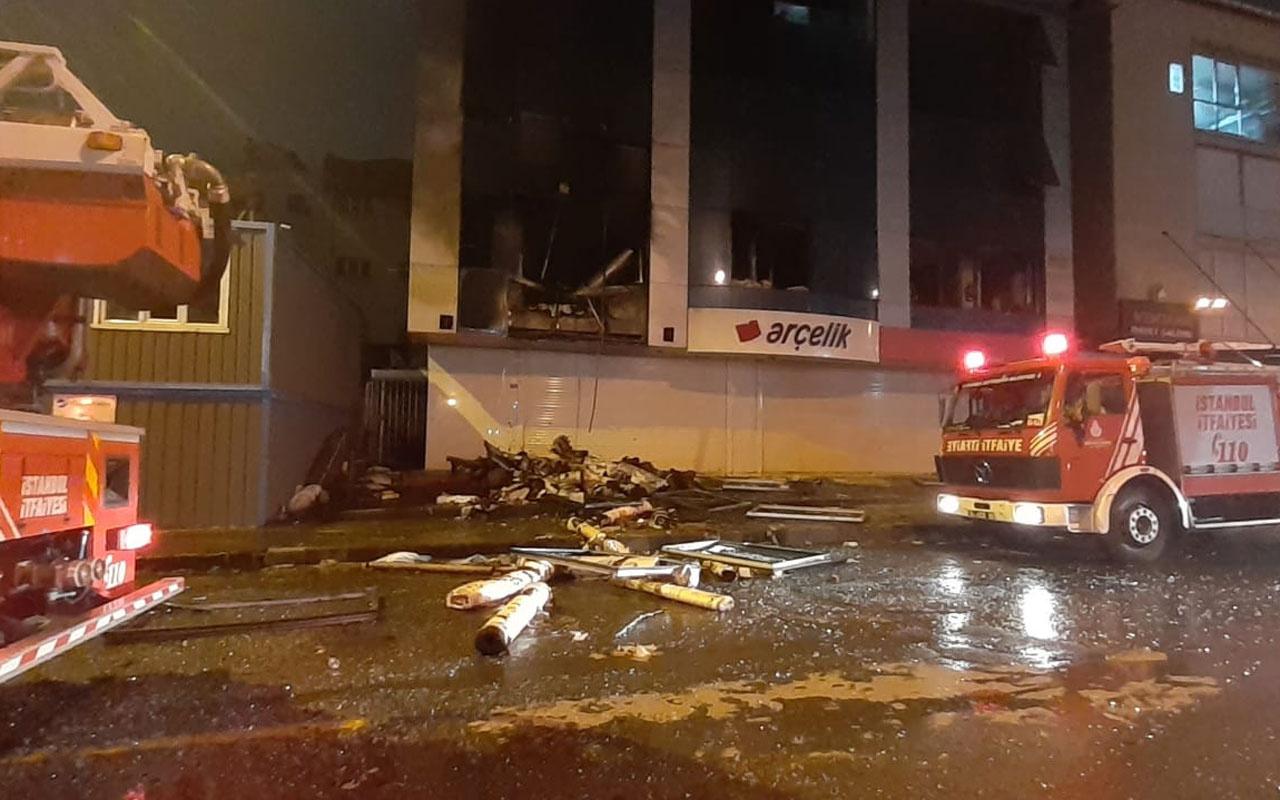 Bahçelievler'de iş yerinde yangın sonrası patlama