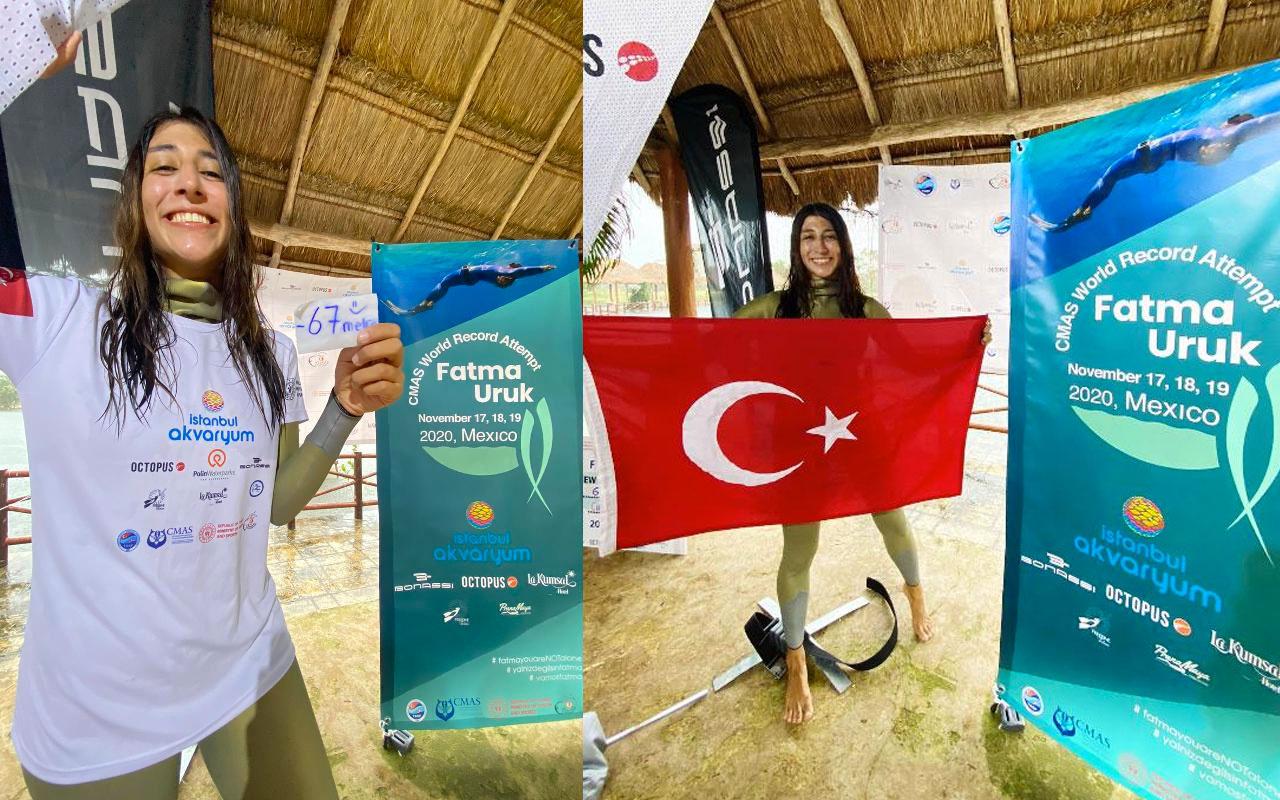Fatma Uruk'tan dünya rekoru! Türkiye'nin göğsünü kabarttı